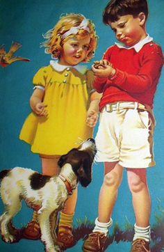 A Helping Hand  Frances Tipton Hunter (1896 – 1957)