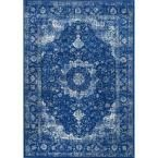nuLOOM Verona Dark Blue 4 ft. x 6 ft. Area Rug - RZBD07C-406 - The Home Depot