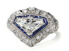 Exceptional Diamond Sapphire Ring