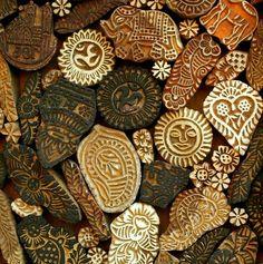 wood blocks from India - love!
