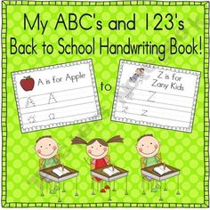 ABC's and Practice Book (School Themed) School Fun, Pre School, Back To School, School Stuff, School Ideas, Kindergarten Writing, Literacy, Teaching Tools, Teaching Resources