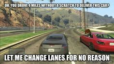 Scumbag drivers in GTA online and in real life