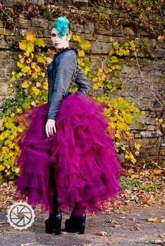 Bridal Steampunk Tulle Skirt in Intense Colors Petticoat Fairytale