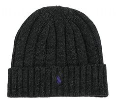 2585af290e43a Ralph Lauren Mens Lambs Wool Beanie Onesize Black at Amazon Men s Clothing  store