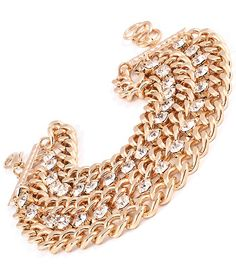 New!  MULTI-STRAND CRYSTAL CHAIN BRACELET $12.99 @ www.ForEveryBella.com $2.99 flat rate shipping today!