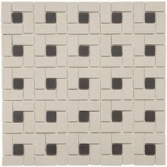 Merola Tile Old World Spiral Antique White and Black 12-1/4 in. x 12-1/4 in. Unglazed Porcelain Mosaic Floor and Wall Tile-FKOBWS at The Home Depot