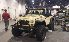 Behind the closed doors at SEMA 2014 Rugged Ridge shows off its brand new stamped steel front bumper. Good looking stuff. http://timbren.com/2014/11/sema-2014-day-3/