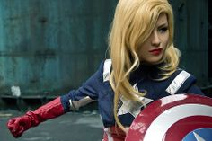 A Captain America Cosplay with a Feminine Twist by HinoSherloki  More cosplay at AllThatsEpic & Follow us on Twitter!  Submit us your cosplays