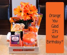 TheInspiredHome.org // DIY Birthday Gift Ideas: Orange You Glad It's Your Birthday? A great gift for anyone from men and women to boys and girls - alter it to suit their personality!