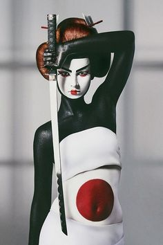 woman w/ katana #koiuichi #ninja #femaleninja #warrior #womanwarrior #ladywarrior #katana #japan #Nihon #Japanese #fashion #avantgarde #avantgarde #VintageWorkshop