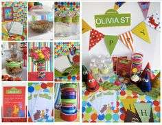 etsy 1st birthday party ideas for a boys elmo sesame | Sesame Street PRINTABLES & Party Guide, Customized. $24.00, via Etsy.