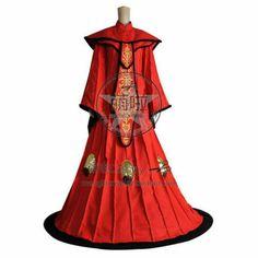 Star Wars Deluxe Queen Amidala Red Dress Phantom Menace Women/'s Costume Std-Lrg