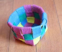 woven felt baskets