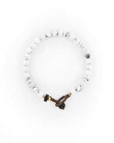 """Virtue Bracelet $26  Trades of Hope.  Help impoverished women earn an income.  Polished Thai stones in white.  8.25""""  beach wear.  Hand made"""