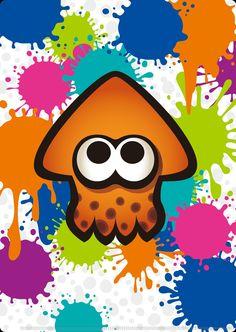 Orange farbender Tintenfisch