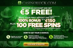 CasinoLuck €5 free cash No Deposit + 100 free spins in April 2014
