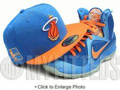 Miami Heat Galaxy Trail Blue Neon Orangeade China Lebron IX New Era Fitted Cap