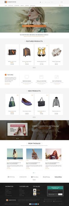 Constitute #Prestashop Responsive #Theme is designed for fashion, shoes, bags, jewellery, electronics and multi purpose stores. Constitute Prestashop Responsive Theme is looking good with colors combination. All sub pages are customized. It is very nice with its clean and professional look.  http://www.templatemela.com/constitute-prestashop-responsive-theme.html