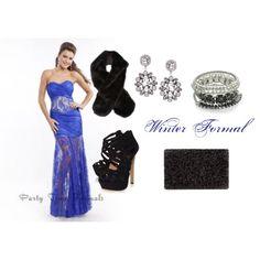 """Winter Formal"" by partytimeformalsblog on Polyvore"