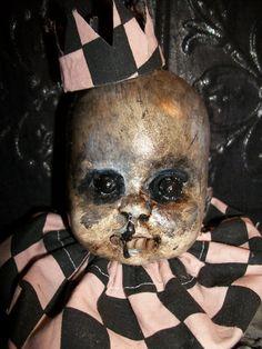 Ghoulish Haunted Creepy Dark Spooky OOAK Altered Art Prop Doll Halloween Freak Scary