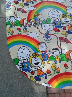 Check out this item in my Etsy shop https://www.etsy.com/listing/482184107/vintage-1970s-bedspread-snoopy-marathon