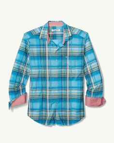 399c899168a Tommy Bahama Palau Plaid IslandZone® Shirt Beach hut blue  125