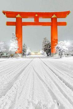 Jingu Street Kyoto Japan by Jeffrey Friedl ? Go To Japan, Japan Art, Visit Japan, Amaterasu, Osaka, Burma, Taj Mahal, Winter In Japan, Kyoto Japan