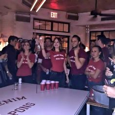 Dakota Johnson     Beer pong with friends