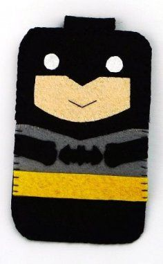 hero collection handmade batman iphone iphone 4s felt cell phone case