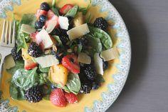 Late Season Berry Salad on www.garlicfingersblog.com