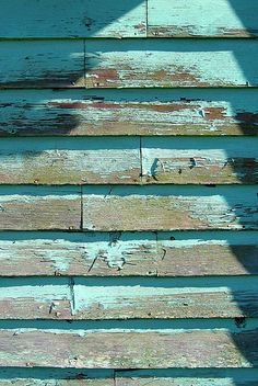 weathered aqua, kissed by salt & sun ~                                                                                                                                                      More