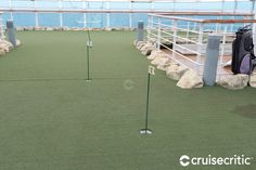 A large putting green, with a number of holes to practice your short game, is located on Deck 16 behind the Movies Under the Stars screen. Golden Princess, Movies Under The Stars, Cruise Offers, Cruise Port, Alaska Cruise, Vancouver, Deck, Travel, Number