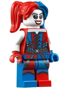 sh260: Harley Quinn - Blue and Red Hands and Pigtails (76053)