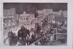 1860 PRINT ILLUMINATIONS AT PESHAWUR ON THE OCCASION OF A GRAND DURBAR