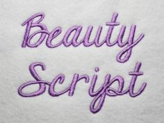 Beauty Script Embroidery Font 4 Sizes