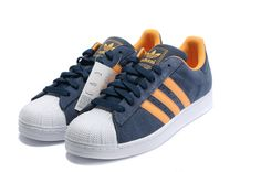 Find Adidas Superstar Cheap Mens online or in Airyeezyshoes. Shop Top Brands and the latest styles Adidas Superstar Cheap Mens at Airyeezyshoes. Orange Shoes, Blue Shoes, Navy Gold, Dark Navy, Jordans For Sale, Superstars Shoes, Adidas Sport, Foot Locker, Adidas Superstar