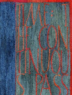 Since the Beginning. A Tapestry Weaving by Kirsten Glasbrook