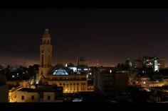 Montevideo Night View - Correo Nacional - Ciudad vieja - Uruguay
