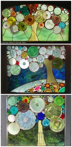ReFab Diaries: Repurpose: Scrap glass wonders...