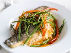 Fish Recipes, Healthy Recipes, Fish And Seafood, Chorizo, Curry, Food Porn, Good Food, Veggies, Lunch