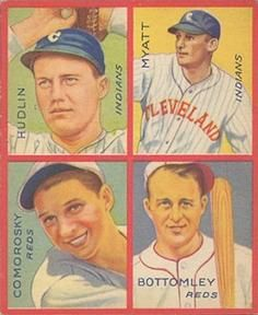 1935 Goudey 4-in-1 (R321) #14 Jim Bottomley /  Adam Comorosky /  Willis Hudlin /  Glenn Myatt Front
