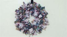 Colors & Crayons Rag Wreath - Awesome teacher/school themed rag wreath! - 100% one of a kind, custom designed, and handmade :) - www.MayCauseMemories.com