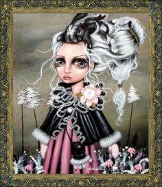 - IC Angora - Wrona Angelina - x Apple Art, Galerie D'art, Wow Art, Pop Surrealism, Gothic Art, Big Eyes, Art Girl, Fine Art Prints, Art Photography