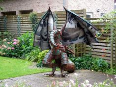 Janovich Dragons and Art - sculpture made out of recycled metal scraps..