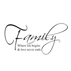 New Wall Sticker Removable Home Decor Art Mural Decal Quotes Family Living Room