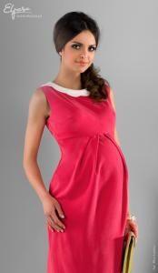 Sukienka ciążowa Nikoleta L czerwona, elegancka