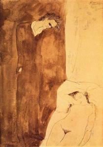 Sleeping nude - Pablo Picasso