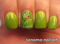 Kermit the Frog Nails