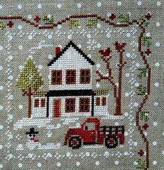 Quilts and Siggies: Farmhouse Christmas – Book Santa Cross Stitch, Cross Stitch House, Cross Stitch Books, Cross Stitch Needles, Beaded Cross Stitch, Cross Stitch Baby, Cross Stitch Charts, Cross Stitch Embroidery, Cross Stitch Patterns