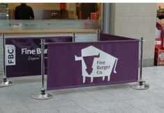 Cafe banner printed on Canvas www.discountdisplays.co.uk
